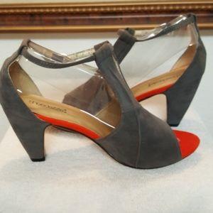 Shoedazzle Open Toe Suede Heel